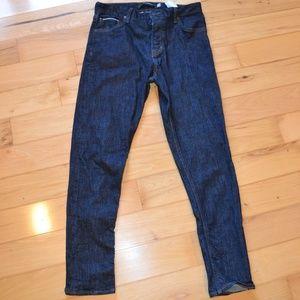 banana republic button fly selvedge jeans 33x32